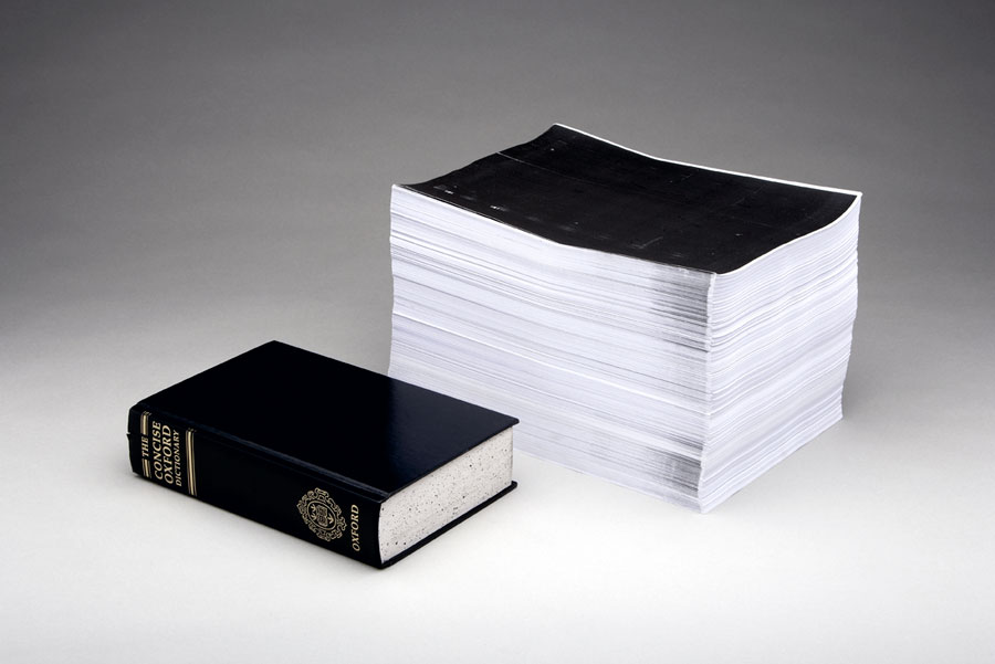 Photocopied Dictionary Daniel Eatock