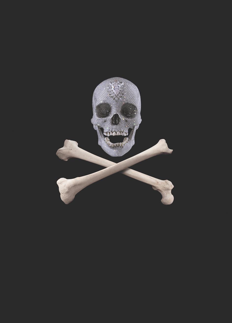 Gold Skull On black Plinth brand new